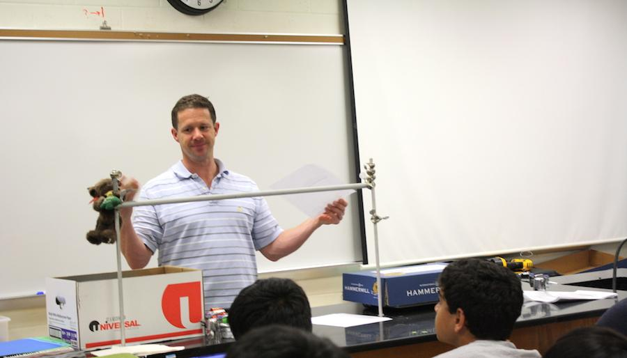 Chemical Analysis Lab Director Brian Kennedy gave information on upcoming science competitions during A block of eighth period on June 4.
