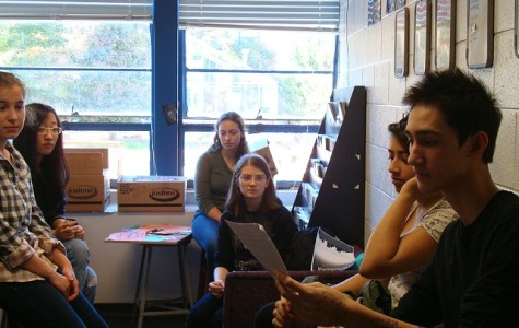 Staff and editors participate in Threshold prose and poetry discussions throughout the school year.