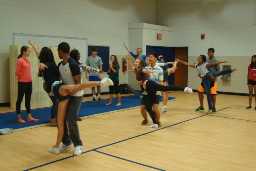Students practice their dance moves for MEX. Homecoming week will take place on Sept. 22-27.
