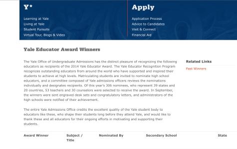 Photo courtesy of http://admissions.yale.edu/educator-award