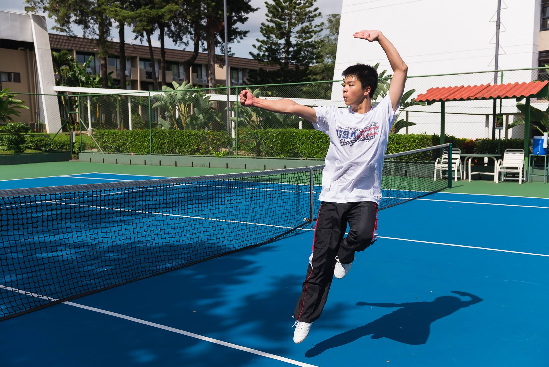 Senior Richard Li practices Wushu outside of school and has traveled to exotic locations such as Costa Rica to demonstrate his prowess in international competitions.