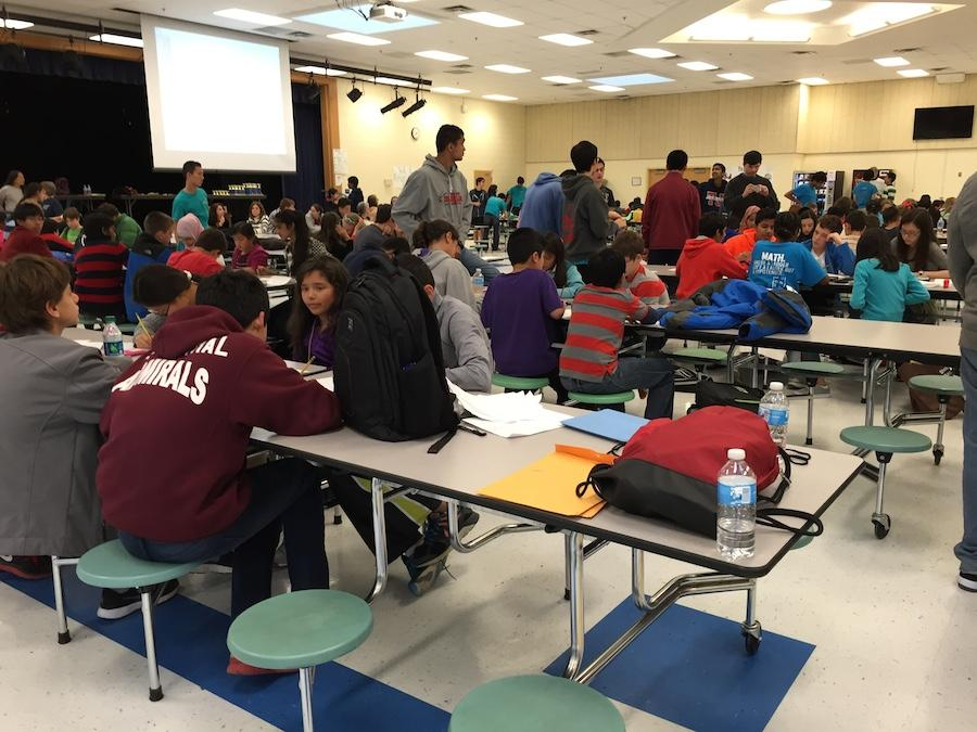 On Nov. 1, the Varsity Math Team (VMT) held the annual student-run Intermediate Math Open (TJIMO) for middle school students.