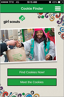 Girl Scouts recently released an app to allow customers to find cookies easily.