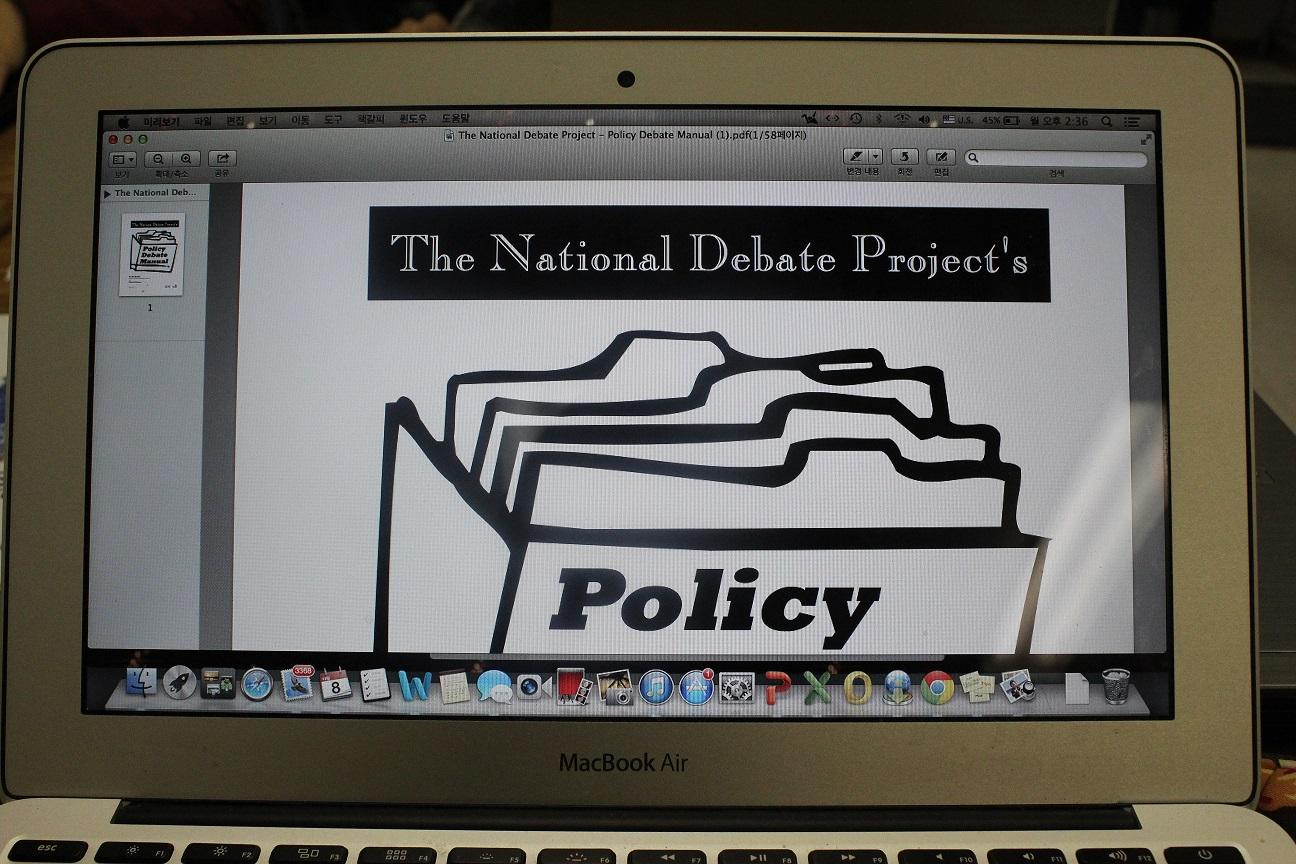 Photo by Esther Kim. Policy debate is one of the many extracurricular activities that Jefferson students can participate in, and is also