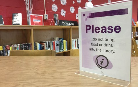 Since students returned from winter break on Jan. 5, the library disallowed students from eating during lunch.