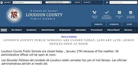 On Jan. 27, Loudoun County Public Schools (LCPS) closed schools due to the inclement weather.