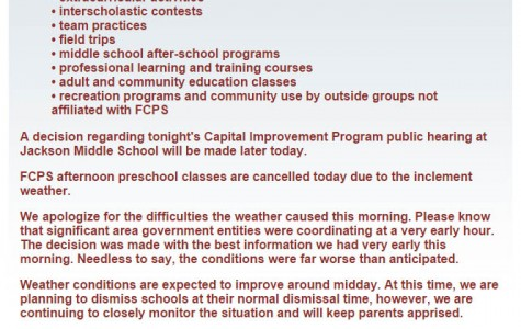 FCPS is too shy about closing schools after last year's harsh winter