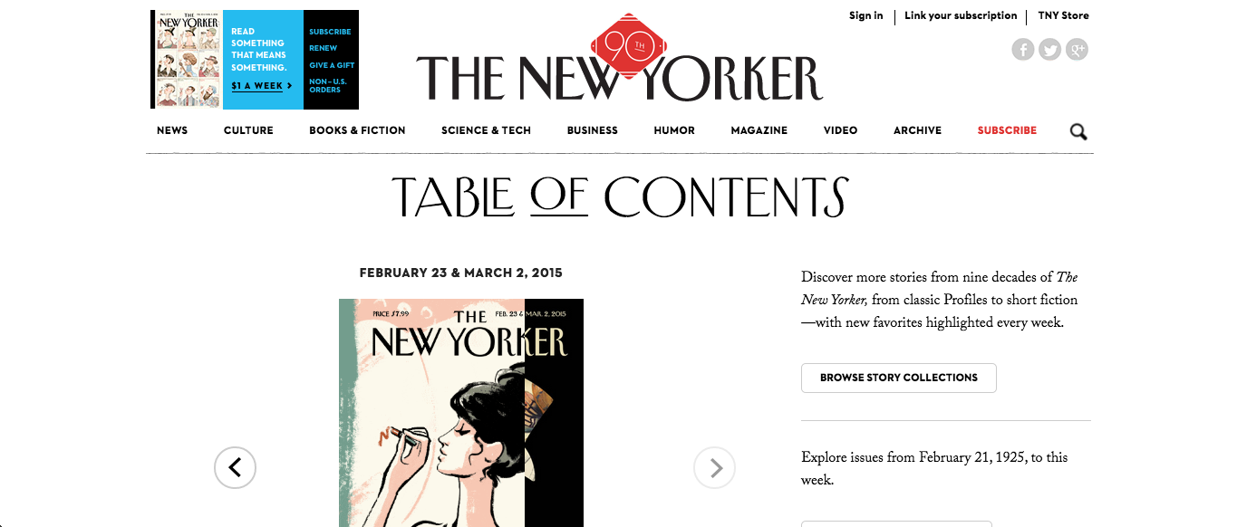 Photo courtesy of www.newyorker.com. Every month, journalists in tjTODAY get ideas for articles and layout using various resources.