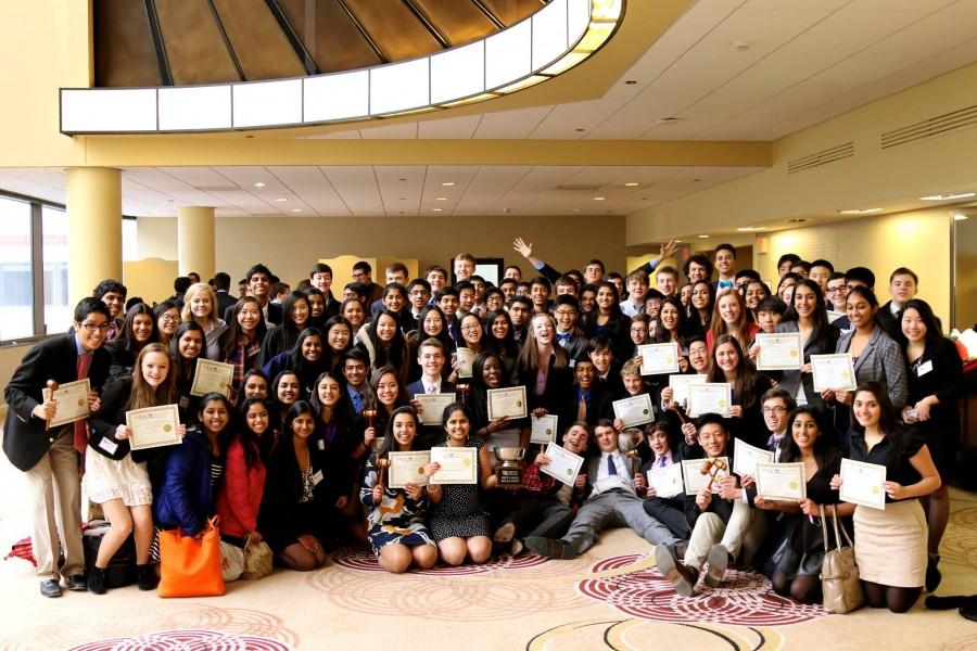 TJMUN celebrates after ILMUNC awards ceremony