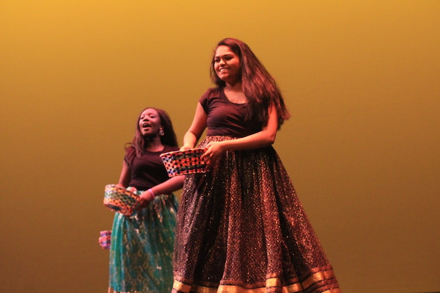 Senior Shivani Nathan performs a traditional Persian dance for Persian Club.