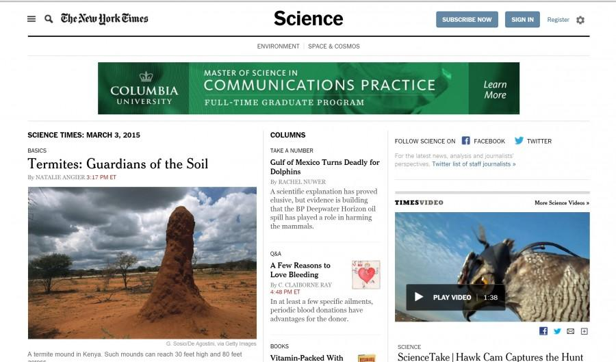 The+New+York+Times%27+science+page+is+just+one+example+of+the+overlaps+between+journalism+and+STEM+topics.