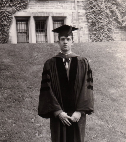 John Forbes Nash at his graduation from Princeton in 1950.