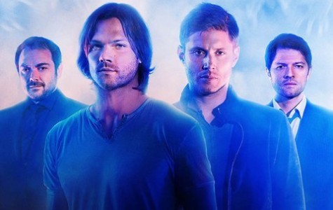 Supernatural -- Image SN10_CAST_0001 -- Pictured (L-R): Mark Sheppard as Crowley, Jared Padalecki as Sam, Jensen Ackles as Dean, and Misha Collins as Castiel  -- Credit: The CW --  © 2014 The CW Network, LLC. All Rights Reserved