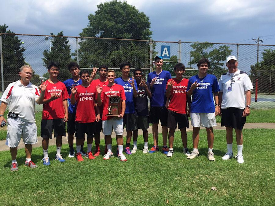 The boys tennis team won states for the third time in a row after beating Deep Run High School in Newport News, Va.