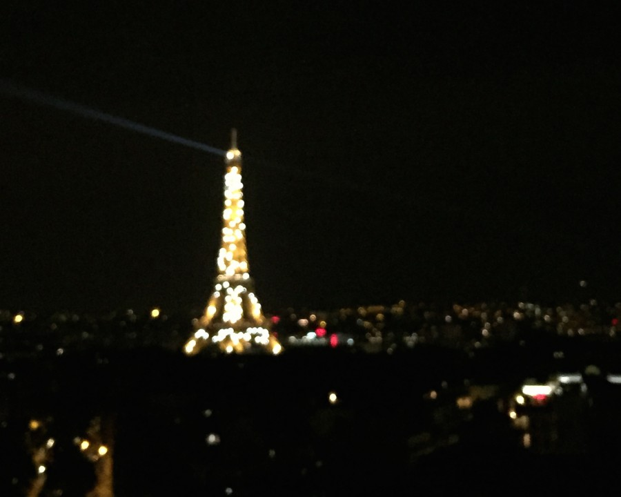 The+Eiffel+Tower+lights+up+in+Paris+when+the+sky+turns+dark.