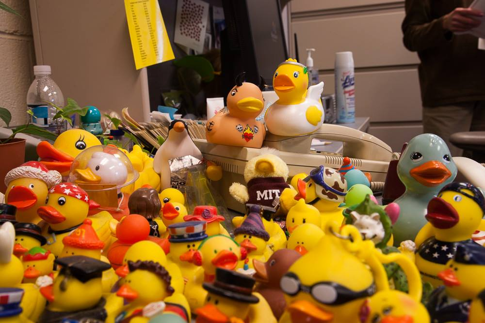Lisa Moore will be remembered fondly by many members of the Jefferson community for the collection of rubber ducks she kept in her office.
