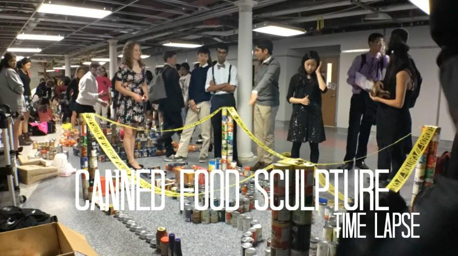 Canned+Food+Sculpture+Time+Lapse