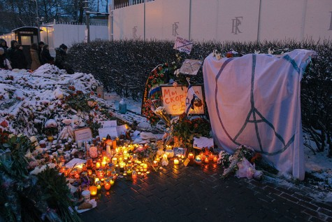 Tragedy struck Paris for the second time in 2015 and once again the world rallied. Memorials, like this one at the French Embassy in Moscow, and the use of social media served as ways for the world to show their support
