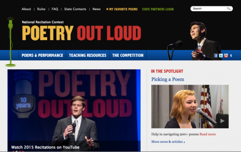 Photo courtesy of www.poetryoutloud.org. Students competed in the finals competition held on Dec. 4 at the Black Box theater during eighth period.