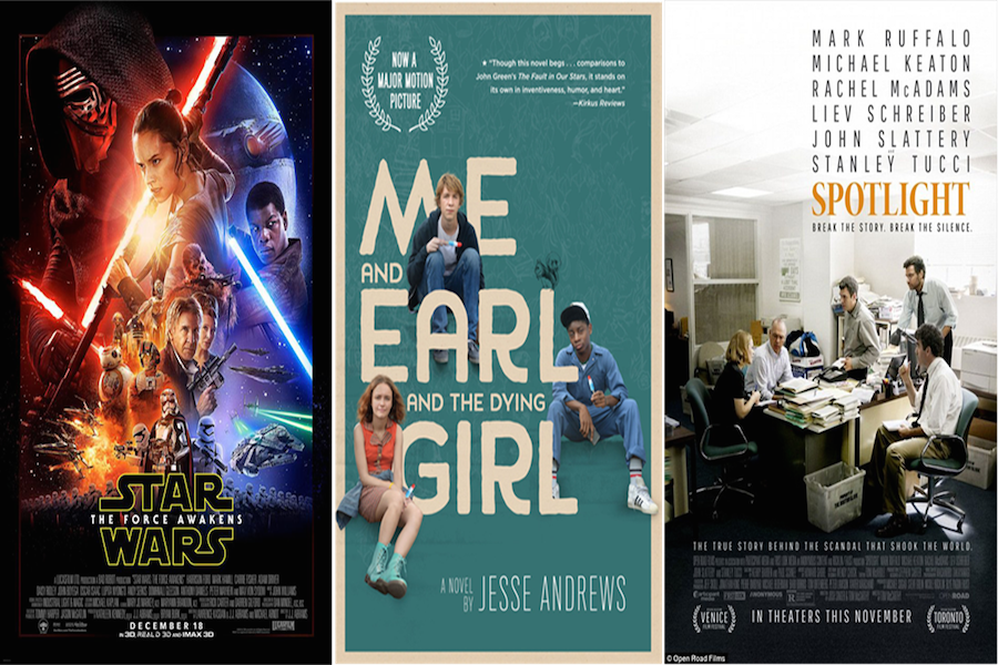 photo courtesy of Lucasfilm, Fox Searchlight, and Open Road Films