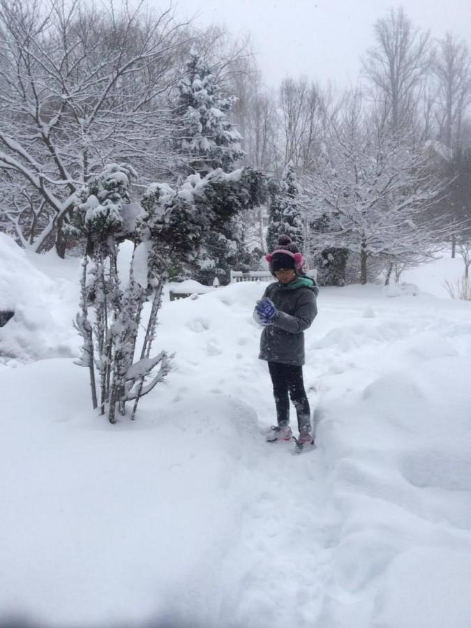 When the brutal winter winds were over, some families, like that of junior Nam Tran Nguyen in McLean, took time to go out into the snow and enjoy themselves.