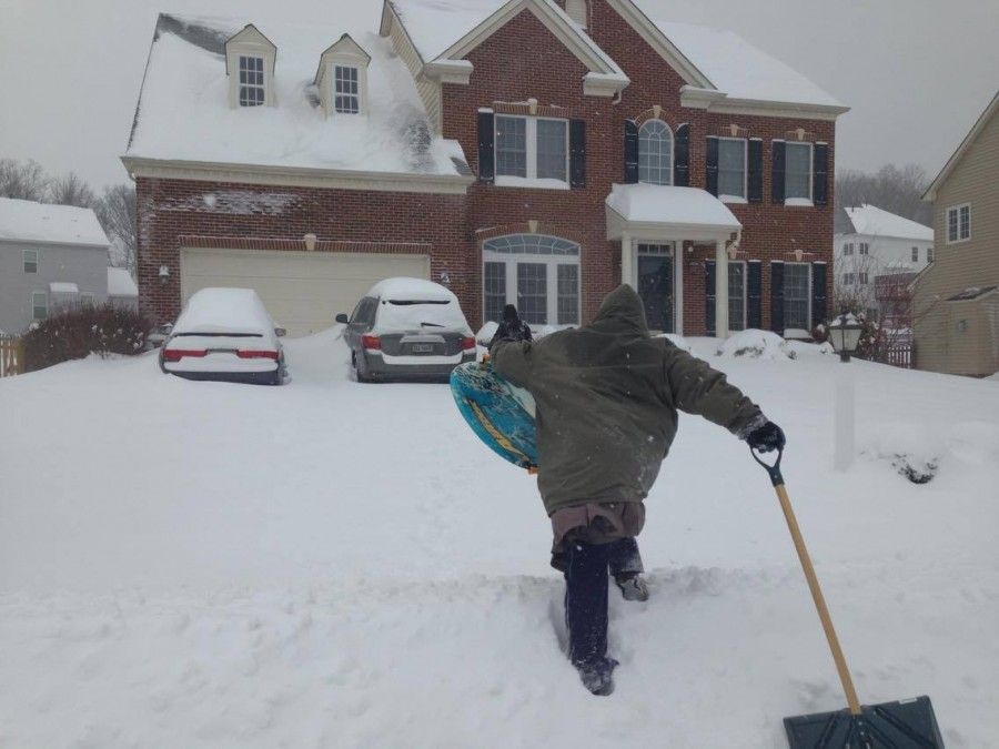 Other students used their snow days for economic purposes. For sophomore Angel Peprah, that included traveling in her neighborhood in Woodbridge to shovel sidewalks for money.