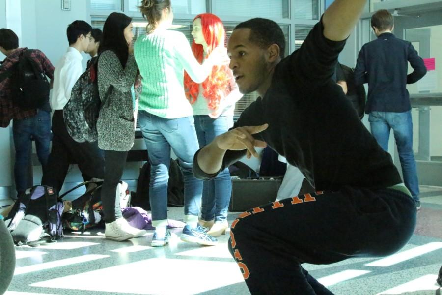 Just Dance allowed students opportunities to have fun and relax during their strenuous school schedules. Senior Connor Jones, for example, gets low to Get Low, during lunch in Mental Wellness Week.