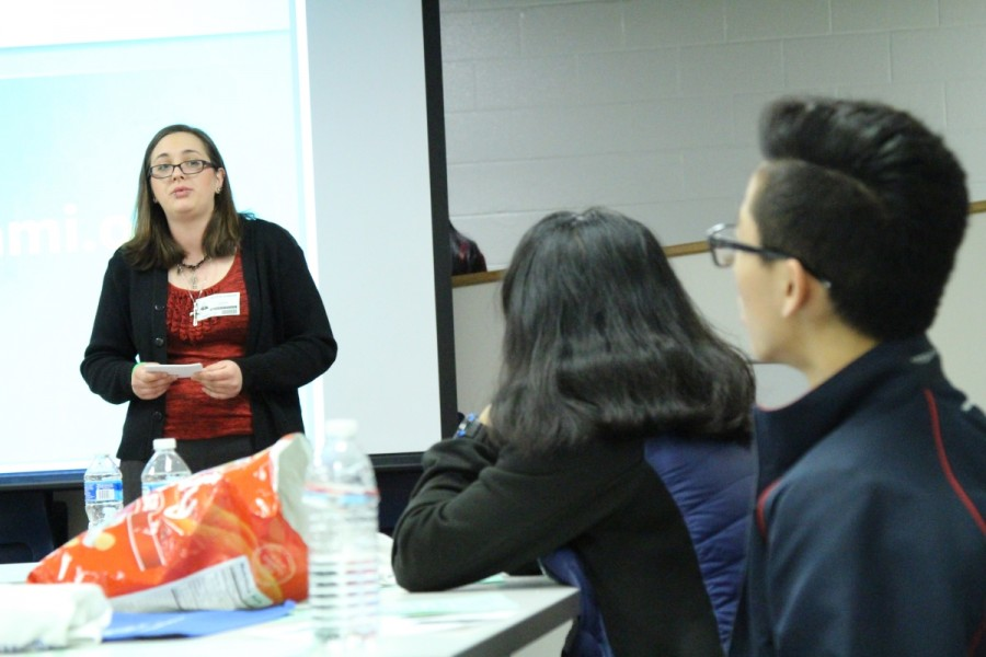 NAMI (National Alliance on Mental Illness) came to Jefferson on Feb. 26 to discuss the importance of mental health. During eighth period, speaker Taylor Johnson discusses her personal story of mental illness and how she got through it.