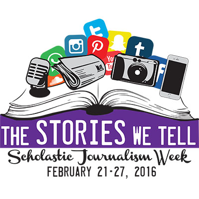 Scholastic Journalism Week, lasting from Feb. 21-27, is a time for student journalists to celebrate their work and other students' work.  Through various activities, including complimenting other schools on their good work and writing thank you notes to teachers, counselors and students who have helped them, student journalists can reflect on their experiences as journalists.