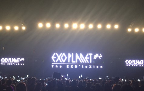 Photo by Esther Kim. K-pop group, EXO, held their first concert in New Jersey on Feb. 21 at Prudential Center. Their performance is one of the many attempts by the artists in the genre to expand its awareness to the international public.
