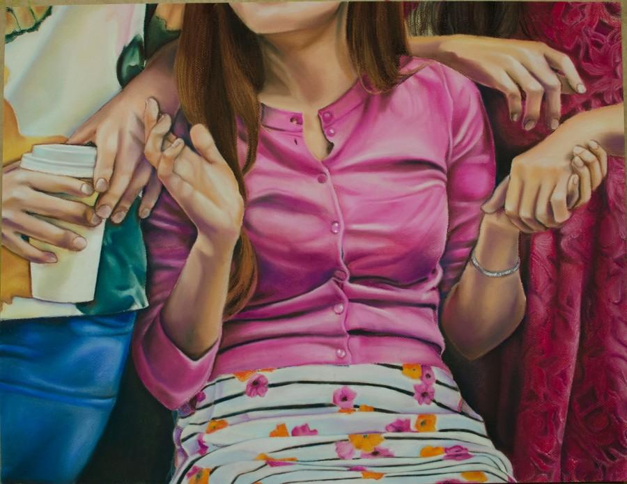 Three Women, a piece by Jefferson senior MinJoo Kang was entered into the Scholastic Art and Writing Awards. The piece was a part of her art portfolio, which consisted of eight works.