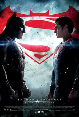 Batman and Superman face off in the release poster, which is visually reminiscent of the poster for Marvel's upcoming and much-hyped