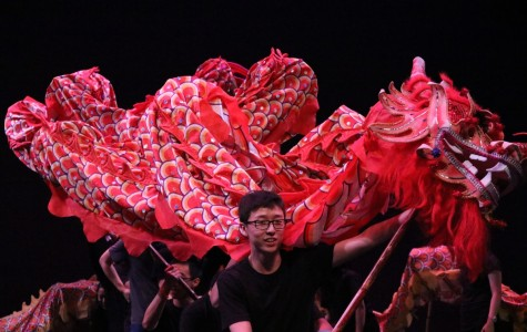 Asian Awareness wowed the audience with a magnificent traditional dragon dance, with junior Andrew Wang at the head of the red dragon.