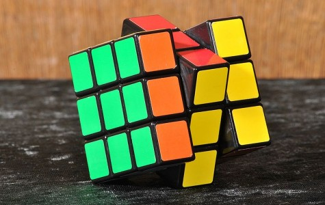 The type of three by three Rubik's Cubes that the team solved twenty five of in a little over a minute.  Photo courtesy of Wikimedia commons.