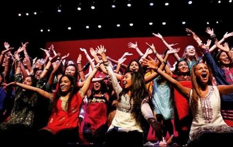Namaste Senior Girls pose for the end of their performance.
