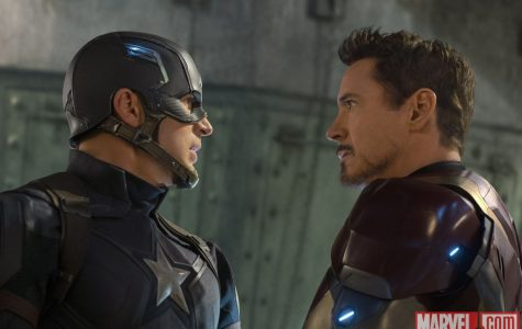 "Steve Rogers and Tony Stark face each other in ""Captain America: Civil War"". ""Civil War"" was released in the U.S. on May 6."