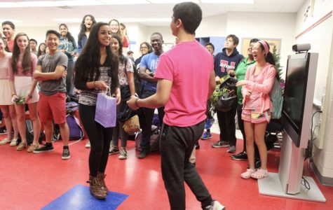 Sophomore Matt Maribojoc said yes to attending Sadie's with sophomore Meghana Boojala in the Chem Commons on May 11.