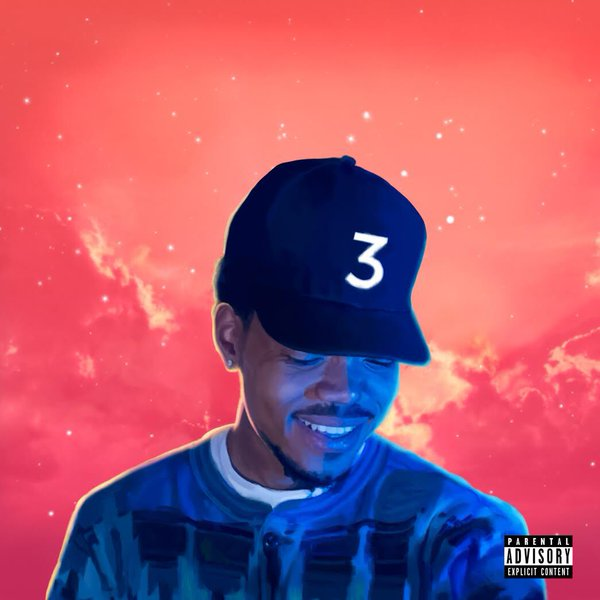 Chance the Rapper gazes down at his new daughter in the cover art for his new album,