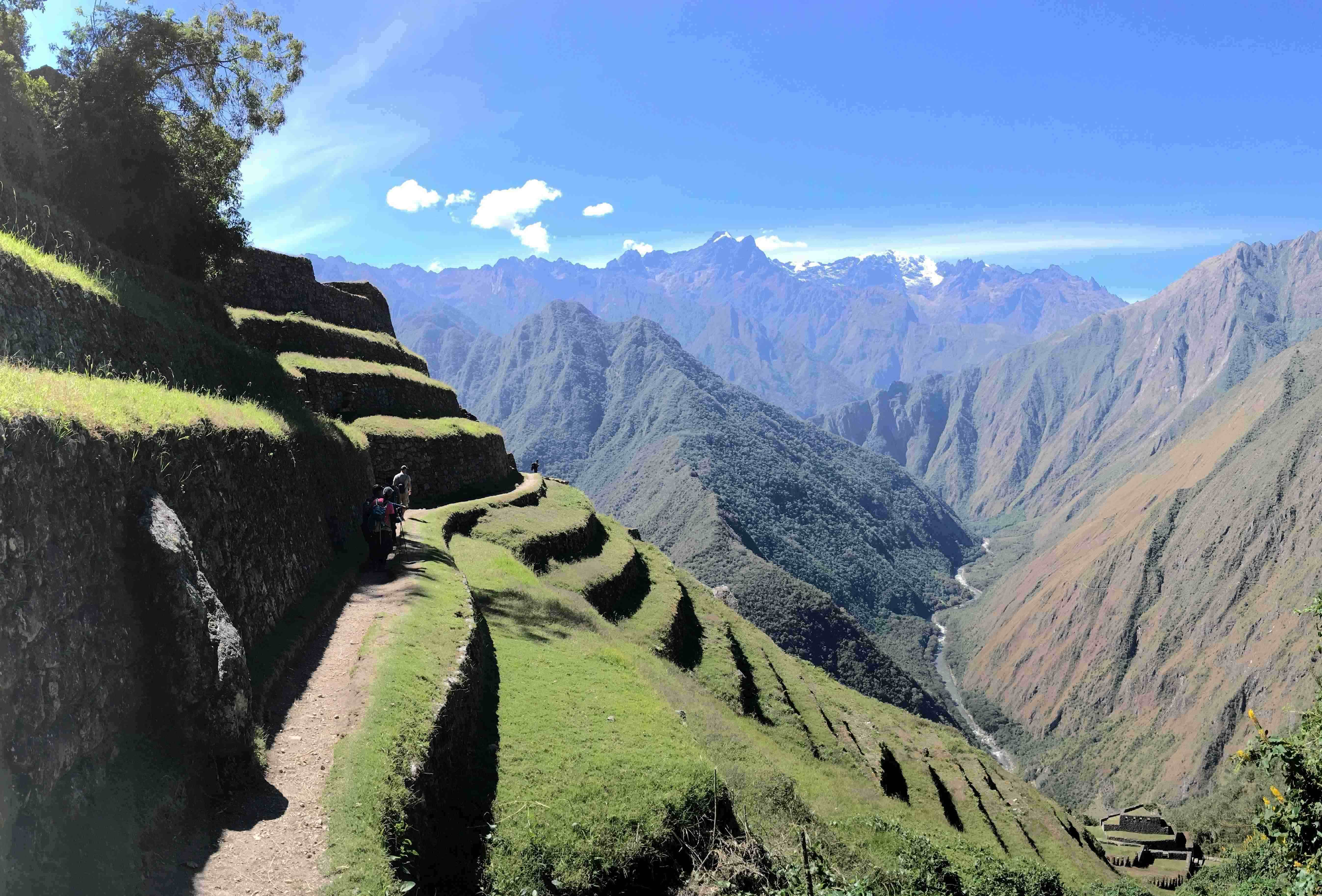 The view from the site of an Inca ruin along the trail. This picture was taken on the first day of the hike.