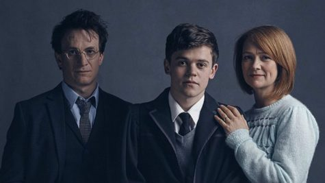 "Jamie Parker, Sam Clemmett, and Poppy Miller star in ""The Cursed Child,"" the eighth installment in the Harry Potter series.  The Palace Theatre is currently showing the play in two parts, as the nature of the story was too complex to shorten it to one."