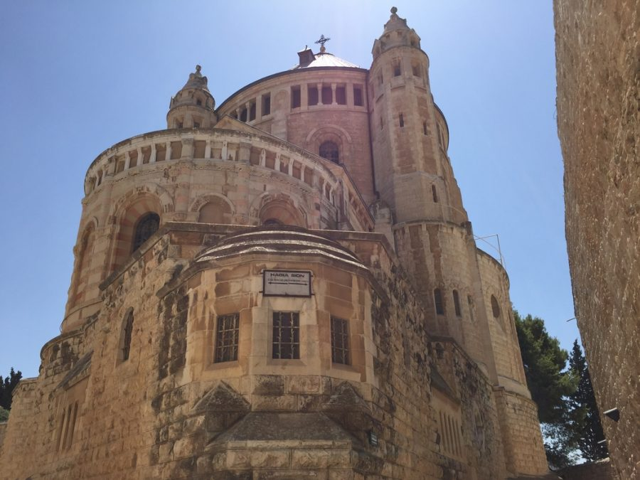 The Hagia Sion is a famed structure just outside the Old City of Jerusalem. It is supposedly where the Virgin Mary passed away.