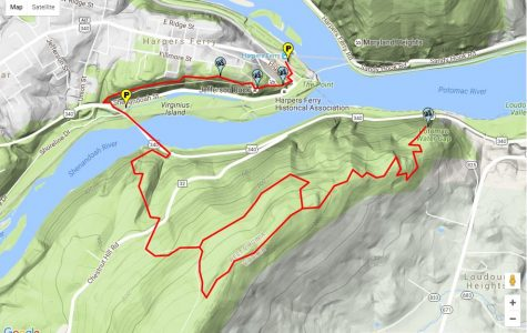 Hiking on the Loudoun Heights trail at Harper's Ferry