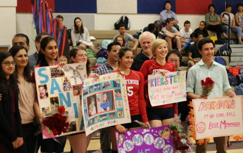 Volleyball senior night photo gallery