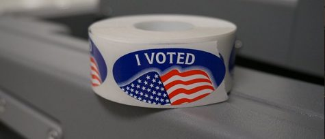 "Voters recieved an ""I voted"" sticker after voting on Election Day, Nov. 8."