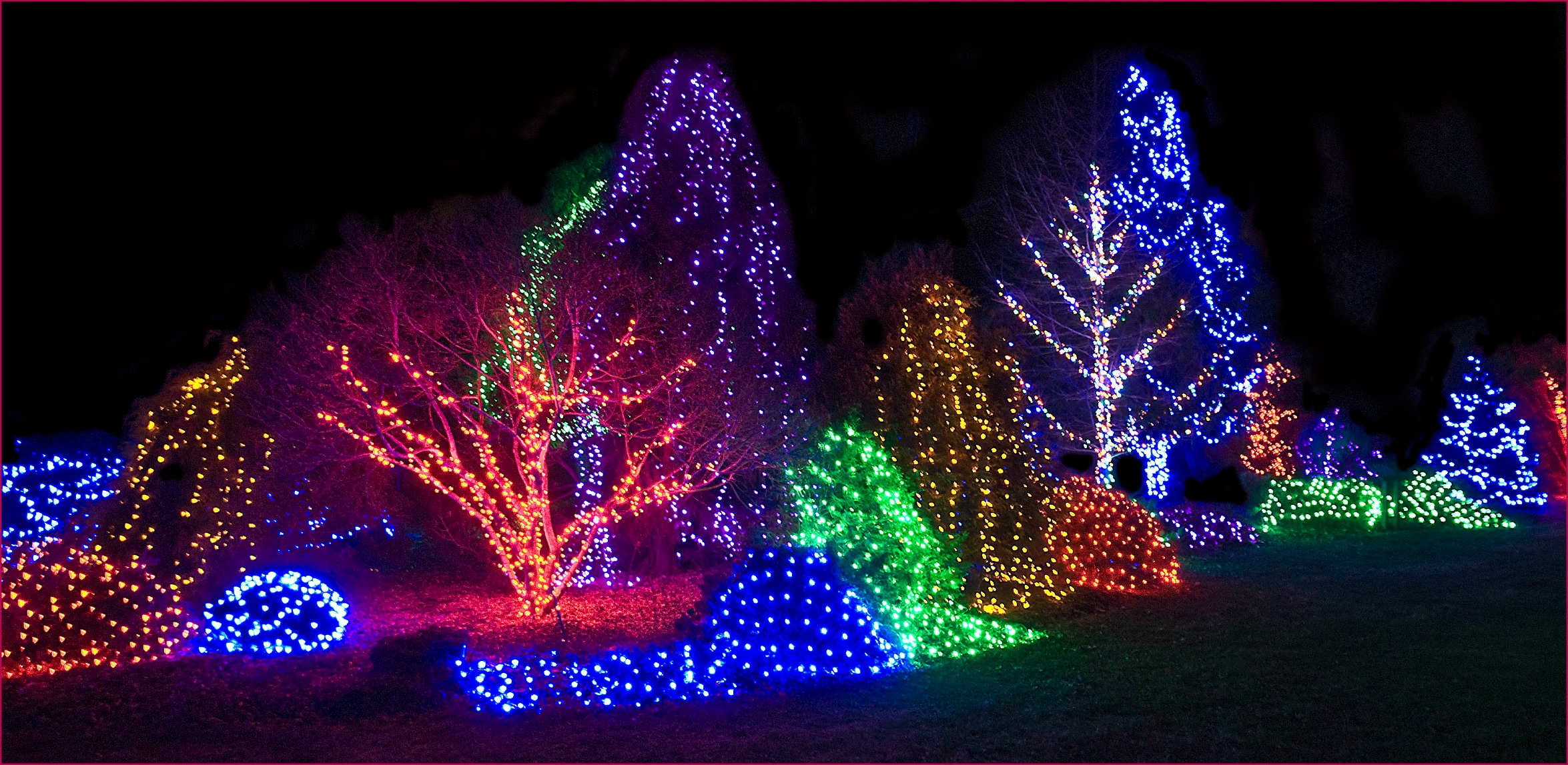 Light displays at the 2013 Meadowlark Winter Walk of Lights in Vienna, Virginia.