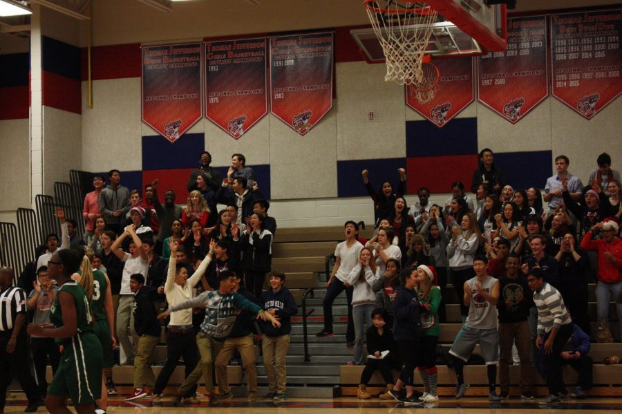 The Monticello Maniacs cheer on the Colonials.