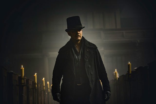 Tom Hardy plays James Keziah Delaney in