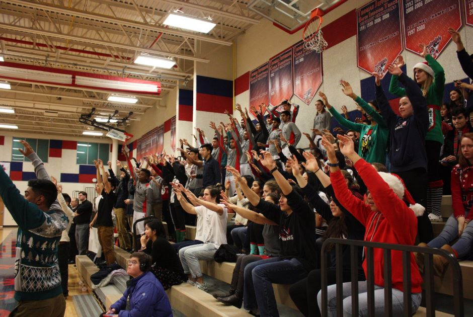 Monticello Maniacs turnout was also large for the Dec. 16th home game against the Falls Church Jaguars.