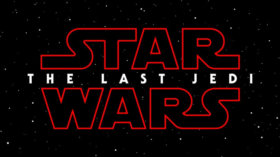 The title card for Star Wars: Episode 8. One thing to note is that the Star Wars logo, which is normally yellow, is red this time. This to me suggests that someone is going to die. Perhaps it will be the Last Jedi?