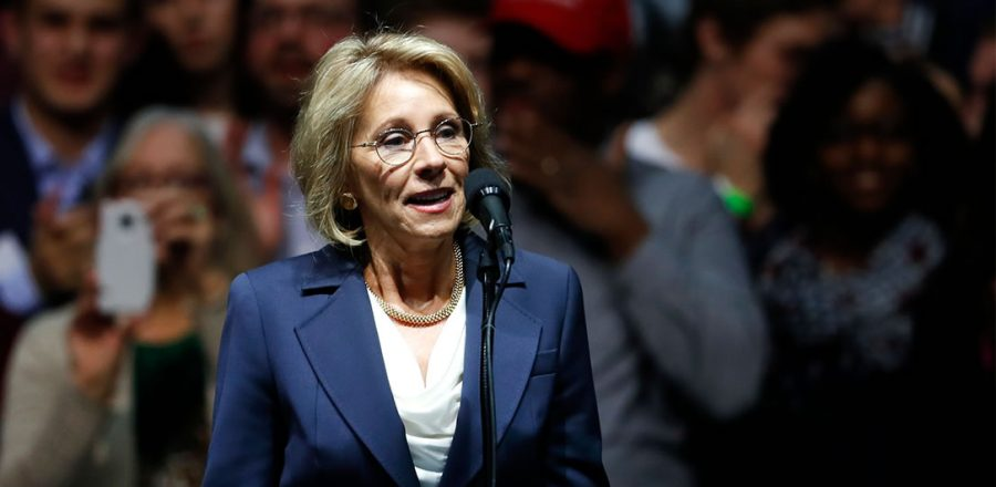 Betsy DeVos is a wealthy lobbyist who supports charter schools, and has been lobbying in favor of them since 2001. Now, she is the Secretary of Education and is poised to promote charter schools across America.